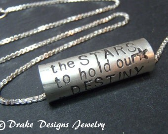 Motivational Quote Shakespeare necklace Sterling Silver Inspirational jewelry