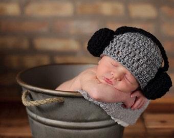 Baby Crochet DJ Headphones Music Beanie Hat