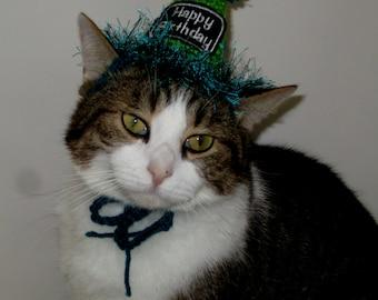 Crocheted Cat Birthday Party Hats