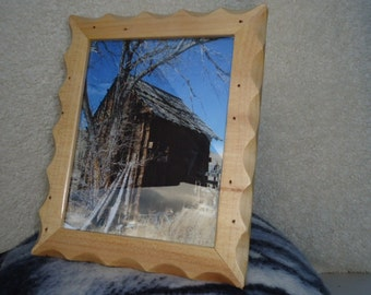 8x10 Rustic Reclaimed barn wood picture frame. Made out of reclaimed wood from the old mountain cabin (as pictured)