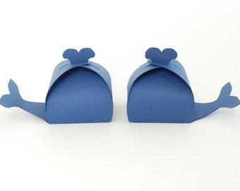 Whale Shaped Favor Box Set of 12