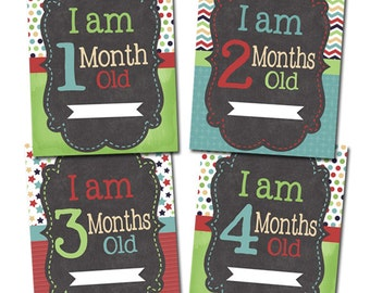 Monthly Baby Signs Photo Prop, Monthly Photos, Baby Month, Boy Baby Shower Gift, Baby Photo Prop, Baby's First Year Scrapbook