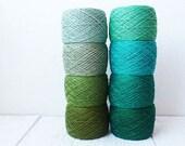 green Crochet Thread collection - high quality 100% Linen Thread