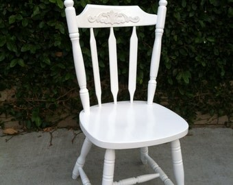 Dining Chair, Vintage, Custom Color, Spindle Chairs,  Kitchen Chair, Farmhouse Chair, Desk Chair (Los Angeles)