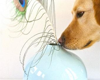 Pale Blue Modern Vase, Minimalist Decor, Soft Blue Round Vase, Minimalist Decor, Modern Vessel