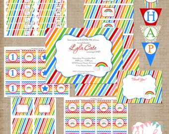 Rainbow Party Printable Pack