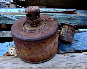 1950s Smudge Pot or Roadside Flare Rustic Mid-Century