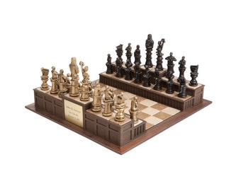 Order in the Court! A legal-themed chess set! Hand-Made in the USA!