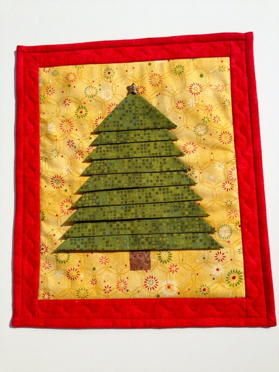how to make a quilted christmas tree wall hanging