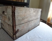 Vintage Wood Crate. Pepsi Cola. Antique Wooden Crate. Handles