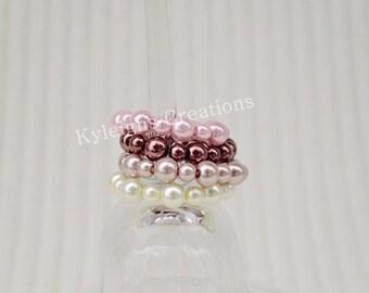 Set of four baby bracelets, newborn jewelry, baby jewelry