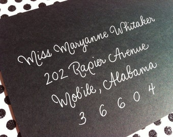 MARYANNE : Custom Wedding Calligraphy Envelope Addressing