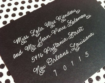 LOLA : Custom Wedding Calligraphy Envelope Addressing Burgues
