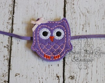 Who's Woo- Purple Owl Headband - Owl Headband - Baby Girl Headband - Baby Headband - Newborn Headband - Infant Headband
