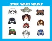 INSTANT DL- Star Wars masks Birthday Party -Printable
