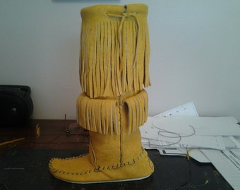 16 Inch Knee High Moccasin Boots. Lined Or Ulined.