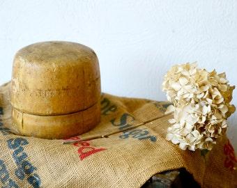 Vintage Primitive Balsa Wood Millinery Hat Form Mold