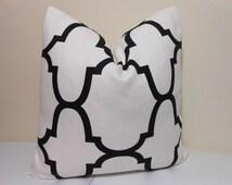 Kravet Riad Pillow Cover in Jet/ Black - Windsor Smith - Decorative pillow Cover 14 x 24, 18 x 18. 20 x 20. 22 x 22. 24 x 24, 26x 26