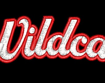 Wildcats two sizes  Machine Embroidery Design File Instant Download