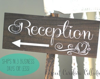 Wooden Wedding Sign with hearts and arrow, Rustic Wooden Wedding Sign WS-115