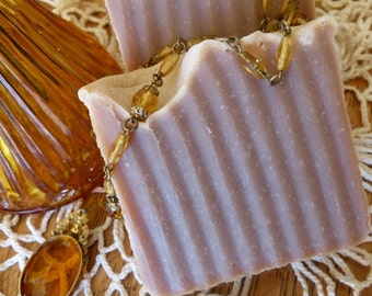 Amber and Musk Vegan Soap, Homemade Amber Soap, with Shea Butter, Amber Romance Soap