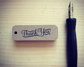 Thank You Tags - Small Thank You Tags - Rustic Thank You Tags - Mini Thank Tags - Thank You Labels - Brown Kraft