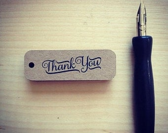 Mini Thank You Tags - Rustic Thank You Tags - Small Thank You Tags - Brown Kraft Thank You Tags