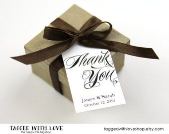Thank You Tag - Thank You Tags - Wedding Favor Tag - Shower - Baptism - Bridal Shower Tags - Custom Tag - Party Favor Tags - MEDIUM