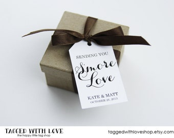 Smore Wedding Favor - Smore Wedding Favors - Smore Love Tags - Wedding Favor Tags - Smore Favor - Smore Tags - Wedding Favor Tags - MEDIUM