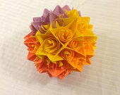 Orange, Yellow, and Purple Paper Centerpiece