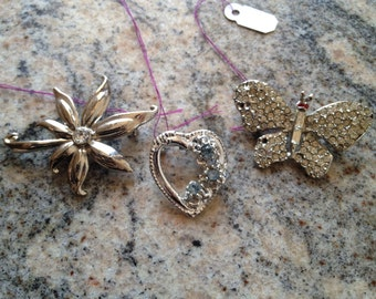 Three Vintage Pins