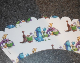 Monsters University Cupcake Wrappers Set of 12 Monster Inc Mike and Sully