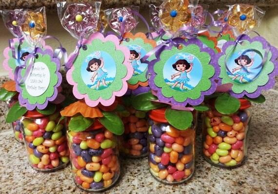 Dora Fairy Party Favors Baby Food Jar Birthday
