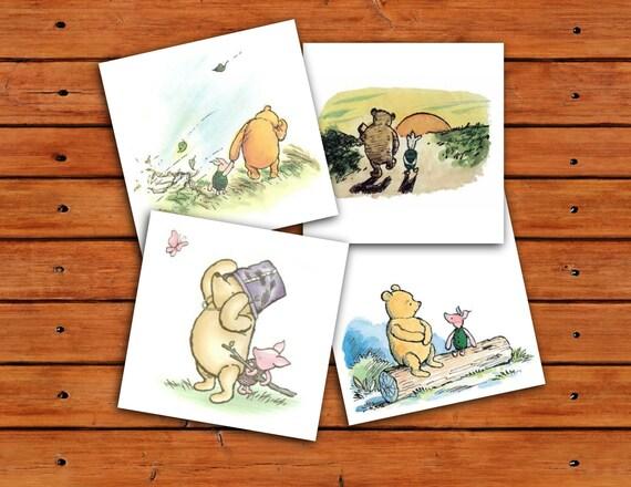 Classic winnie the pooh and piglet 5x5 prints instant download 1 il570xn m4hsunfo