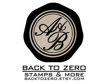 B20 Wax Seal Stamp Personalized Wedding Custom Initials with Ampersand