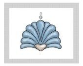 Shell....Bling Charm Ornaments...Set of 12
