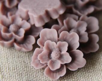 12 pcs of sakura flower cabochon-22mm-rc0166-9-dark lilac