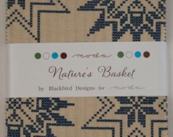 NATURES BASKET Charm Pack, by Blackbird Designs for Moda