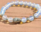 Mystical and Magical  Moonstone, Yoga Bracelet, Healing Beaded Reiki, Energy, Meditation, Buddhist Mala