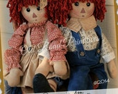 Granny's Attic Raggedy Annie & Andie Raggedy Instant Download PDF Pattern