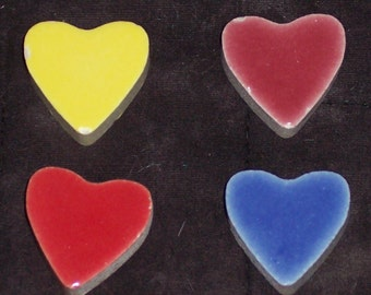 Ceramic heart shaped mosaic tiles,Milestones brand,value package,12 oz,stepping stones