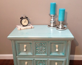 ITEM IS SOLD - Shabby Chic/Coastal Cottage Distressed Nightstand