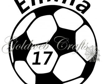 Personalized Soccer Car Decal