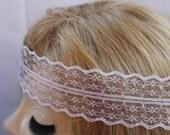 White Lace headband Hippie Headband Hair Bands Boho Headband Lace headband