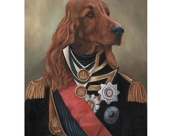 Irish Setter, Prints, Nathanial Setterton, Pet Gift Items, Best Dog Lover Gifts