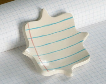 Paper Cut-out Notebook Ceramic Tray