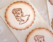 Belle Beauty and the Beast Stickers (Disney Princess Birthday Party decor/ invitations/ giftwrap)  -Set of 12 Stickers/ Envelope Seals