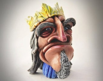 """SALE: """"Rex"""" (hand-crafted sculpey & acrylic paint)"""
