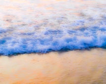 "Ocean Photography, Wave Photography, Beach Photography, Calming, California, Serene, Organic, 8x10 fine art print, ""Softly Rolls the Sea"""