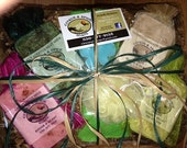 Handmade soap gift basket (4 bars)